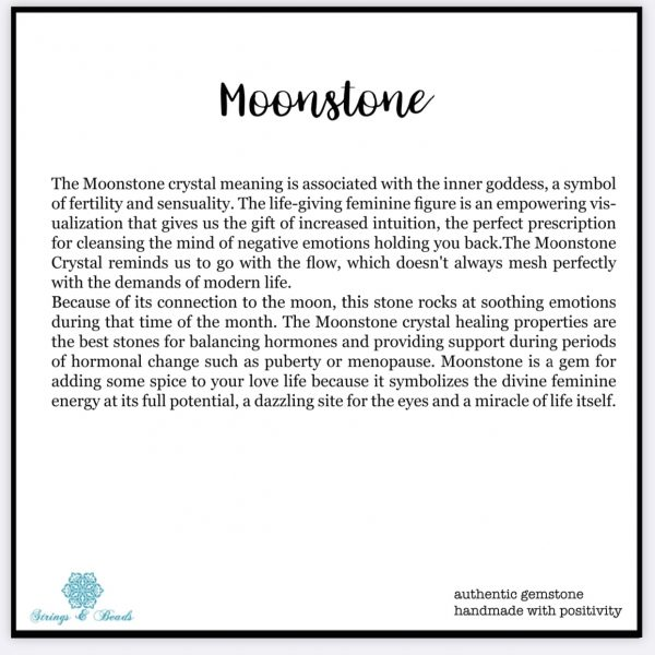 Peach Moonstone healing bracelet