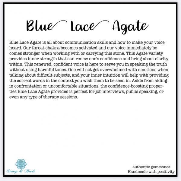Blue lace agate healing bracelet