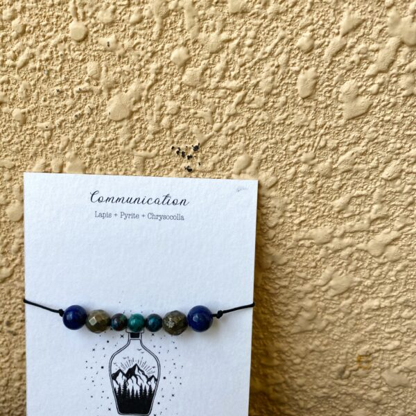 Communication ( Lapis + Pyrite + Chrysocolla) : Intention Threads