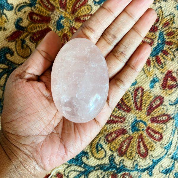 Palm Stone : Rose Quartz
