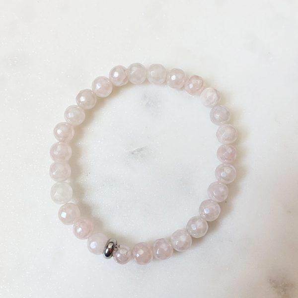 Aura rose quartz bracelet