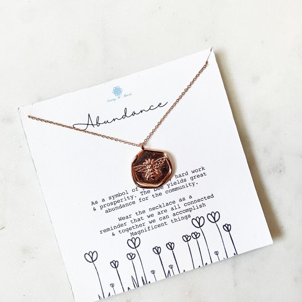 Meaningful Jewelry : Bumble Bee/Abundance
