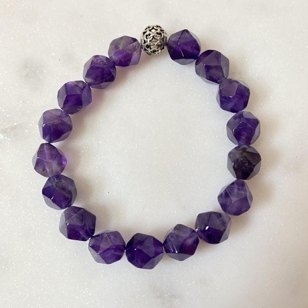 Amethyst AAA Grade Star cut bracelet