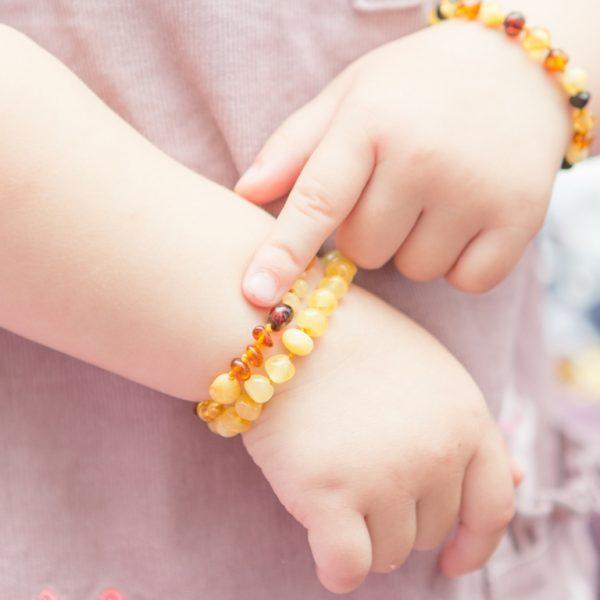 Amber bracelet/anklet – teething/kids