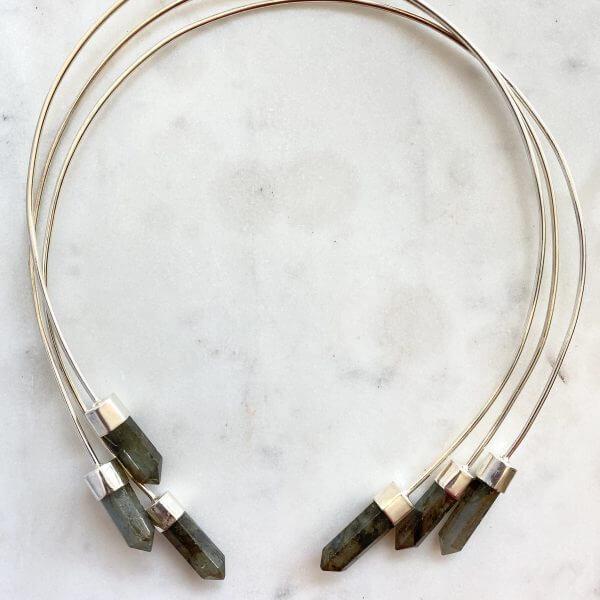 Collar Necklace : Labradorite
