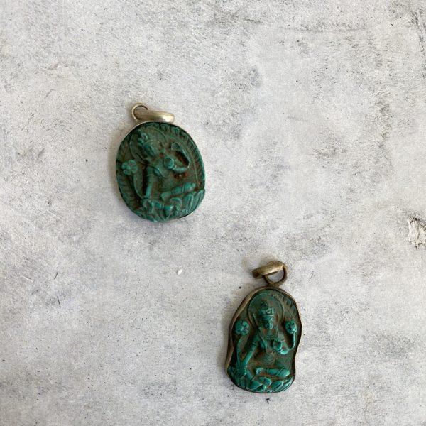 Tara Pendant : Tibetan Turquoise
