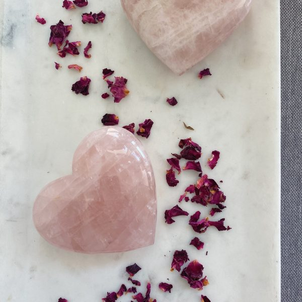 Rose Quartz Heart : Large